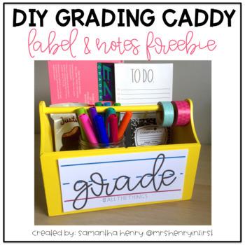 Grading Caddy Label & Notes FREEBIE