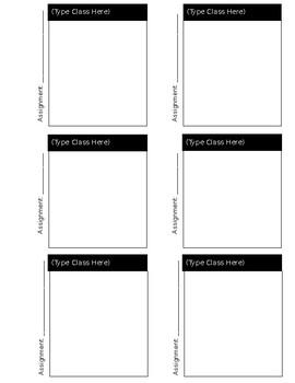 Grading Checklist