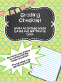 Grading Checklist for Narrative Writing