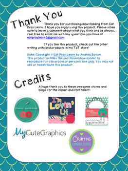 Grading Checklist for Narrative Writing
