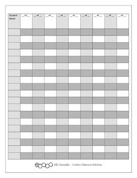 Grading Record Sheet