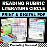 Reading Rubrics Literature Circles Assessment
