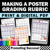Create a Poster Project Rubric, Social Studies or Science Assessment