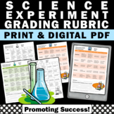 Science Experiments Rubric, Scientific Method 4th 5th 6th Grade Science Lab