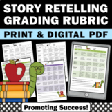 Special Education Reading Rubric, Story Retell Assessement