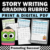 Story Writing Rubric, Language Arts Assessment