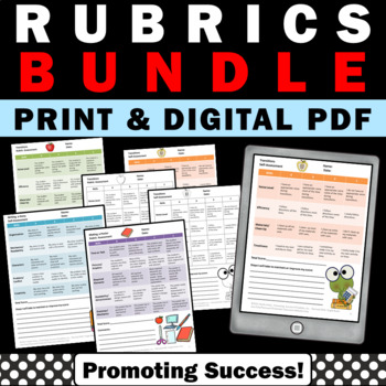 Grading Rubrics BUNDLE, Math, Science, Reading Rubrics, Special Education