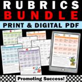 ELA, Math, Reading, Science Rubrics for Primary Grades BUNDLE