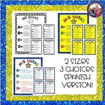 Grading Rubric! **For Grades 2-5  Spanish & English Versions!