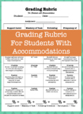 Grading Rubric / Versatile Template / Includes accommodations