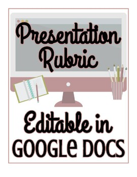 Presentation Rubric - EDITABLE in Google Docs!