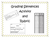 Grading Sentences Student Activity and Rubric