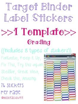 Grading Stickers (Target Binder Label Template)