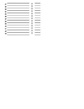 Grading Student Check off Sheet