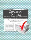 Grading System for Essays, Narratives & Paragraphs (Rubric Pack)