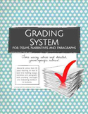 Grading System for Essays, Narratives & Paragraphs (Rubric Pack)