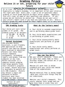 Grading and Behavior Information for Parents
