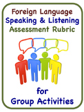 Rubric for Assessing Group Speaking Activity: English, French, Spanish