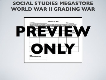 Grading the War WWII US History World History