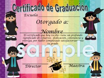 Grads Achievement Award English / Spanish version