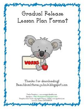 Gradual Release Lesson Plan Format