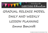 Gradual Release Model Lesson Planner
