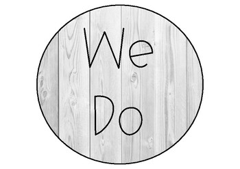Gradual Release Model Posters (I do, we do, you do) Grey Wood Theme