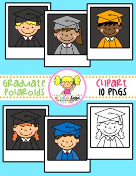 Graduate Polaroid Kids Clipart Freebie