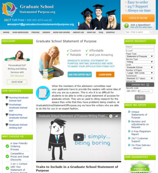Graduate School Statement of Purpose Service