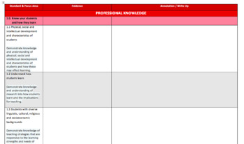 Graduate Teacher Portfolio Template