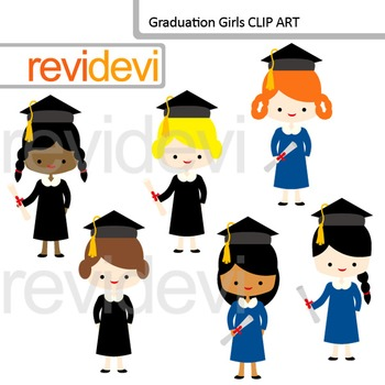 Graduate clip art: Graduation girls clipart