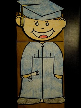 Graduate kid paper bag puppet