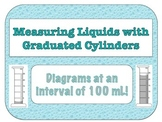 Graduated Cylinder Diagrams (100 mL Interval)