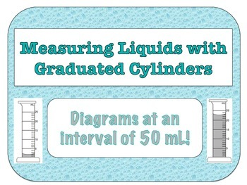 Graduated Cylinder Diagrams (50 mL Interval)