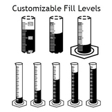 Graduated Cylinder fonts - Customizable fill levels!