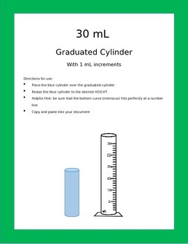 Graduated Cylinders: Editable measurements for Interactive Lessons