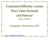 Graduated Difficulty Decimals and Patterns