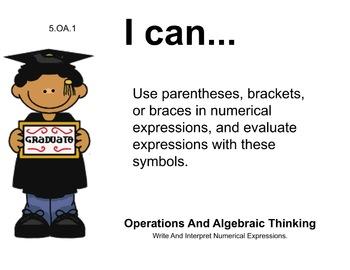 Graduates Theme 5th grade math Common Core Posters Fifth Grade Standards