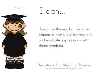 Graduates Theme 5th grade math Common Core Posters Fifth G