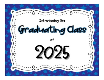 Graduating Class of 20__ Craftivity - Beginning or Ending of the Year Activity