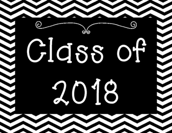 Graduating Class Poster Set for Back to School Set 2