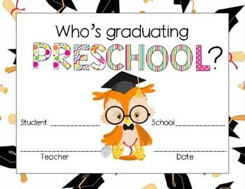 graduating preschool awards by aj bergs teachers pay teachers