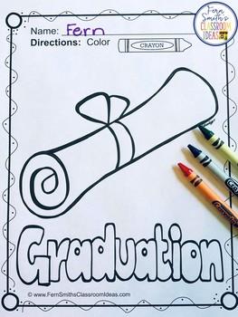 Graduation Coloring Pages Freebie