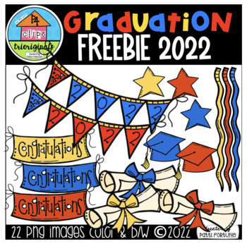 Graduation 2017 Freebie (P4 Clips Trioriginals Digital Clip Art)