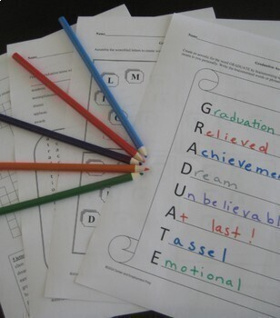 Graduation Activities BUNDLE for Middle School and High School