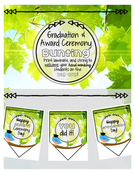 Graduation/ Award Ceremony Bunting for Celebration Banner