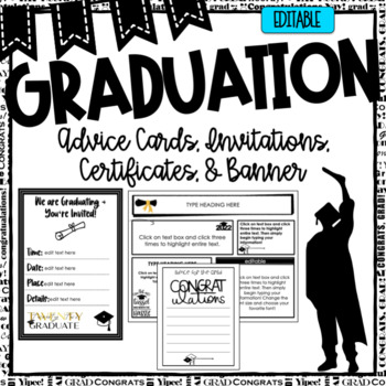 Graduation Banner ~ Editable