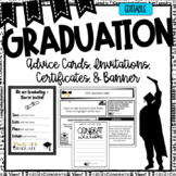 Graduation Certificates, Invitations, Advice Cards| Newsletters | Editable
