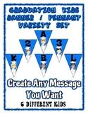 Graduation Banner Pennant Set Write your own message - Ent