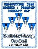 Graduation Banner Pennant Set Write your own message - Ent